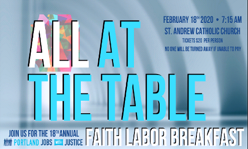 Faith Labor Breakfast | February 18 @ 7:15am