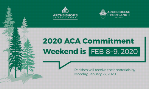 Commitment Weekend | Archbishop's Catholic Appeal 2020